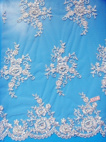 Beaded Lace Fabric For Wedding Dress