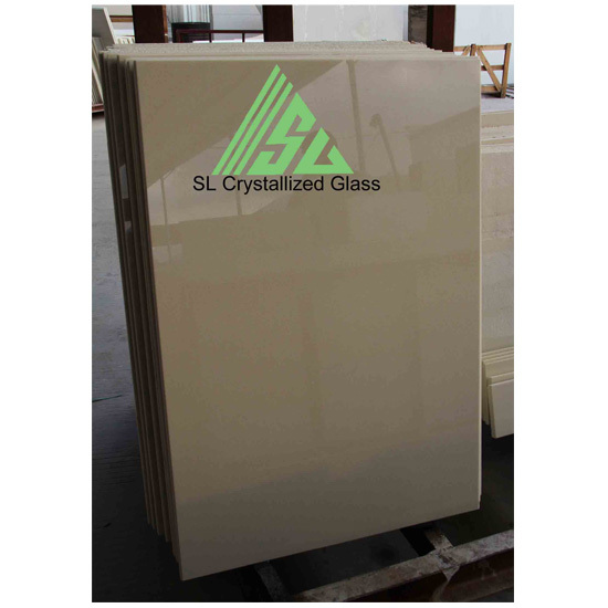 Beige Crystallized Glass Tile