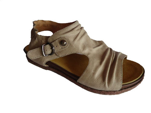 Beige Lady Leather Casual Sandals 2306 3