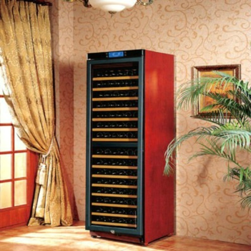 Big Capacity 470l W470b Dual Zone Wooden Wine Cabinets Modern Free Standing