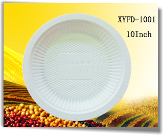 Biodegradable Compostable 10 Inch Three Compartments Plate