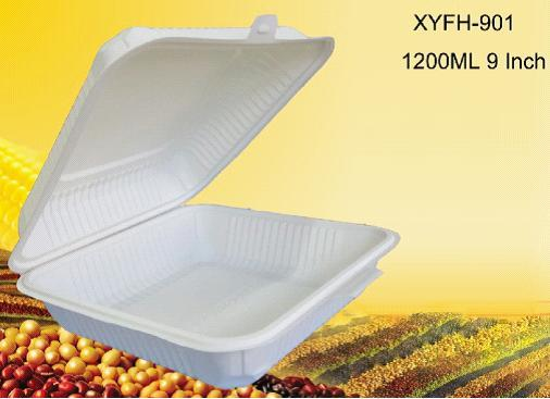 Biodegradable Disposable 9 Inch Lunch Box