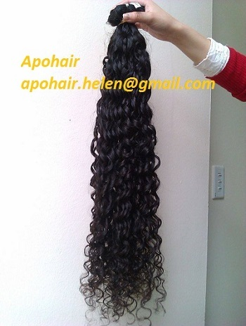 Black Curly Human Hair