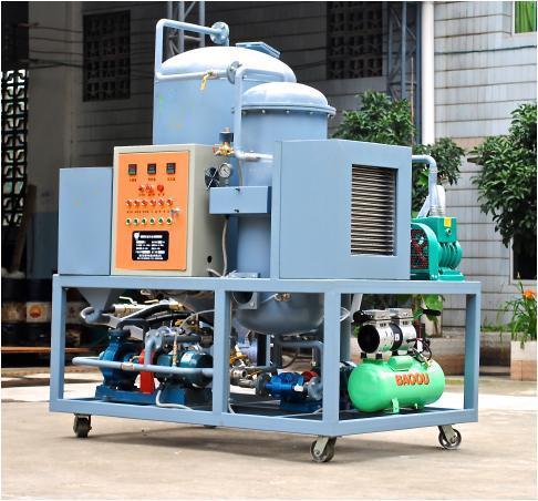 Black Engine Oil Purifier Machine Tpr