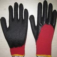 Black Latex Coated Working Gloves Lg1506 11