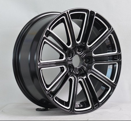 Black Machined Face Car Alloy Wheels 22x10 5