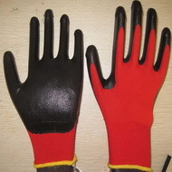 Black Nitrile Coated Working Gloves Ng1501 8
