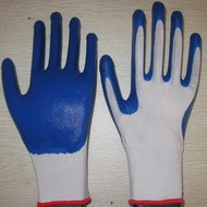 Blue Nitrile Coated Working Gloves Ng1501 1