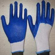 Blue Nitrile Coated Working Gloves Ng1501 11