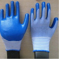 Blue Nitrile Coated Working Gloves Ng1501 21