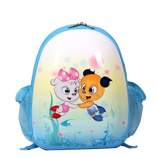 Blue Smjm Oval Shape Kid Backpack Small Cute Backpacks For Kids
