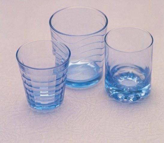 Blue Transparent Cups Water Mugs Wholesale