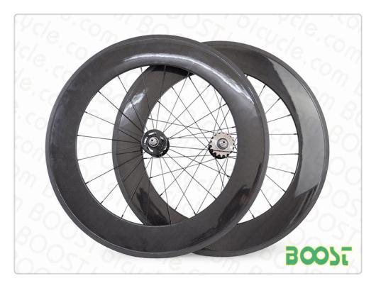 Boost High Tg Text 88mm Track Bike Carbon Wheels Fixed Gear Fiber Tubular B