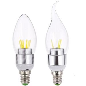Bosenor Lighting 3w E14 Silver Led Candle Light