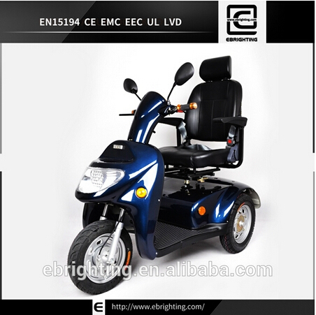 Bri S06 Adult 1200w 24v100ah Electric Three Wheel Mobility Scooter Handica