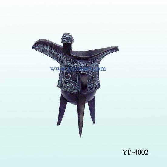 Bronze Wine Cup Sculpture