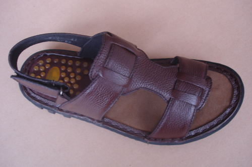 Brown Men Leather Sandals T803 4
