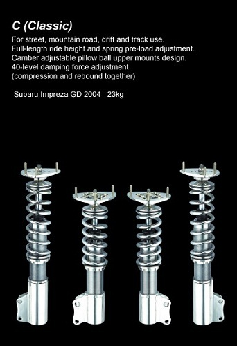 C Classic 57mm 50mm Coilovers