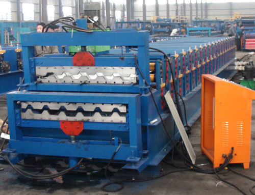 C10 C21 Double Deck Roll Forming Machine