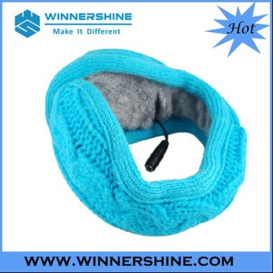 Cable Knitted Earmuff Headphone In Clear Sound