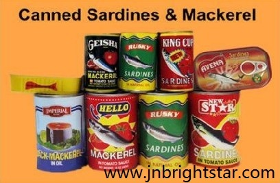 Canned Mackerel Sardine Fish