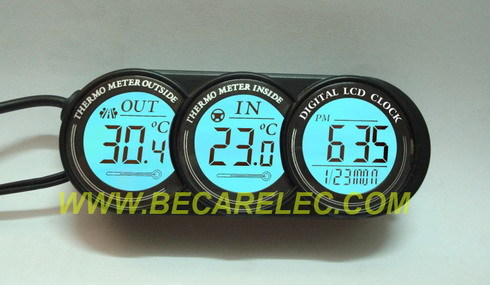 Car Clock With In Out Thermometer Ct39