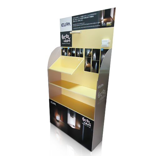 Cardboard Floor Display Rack