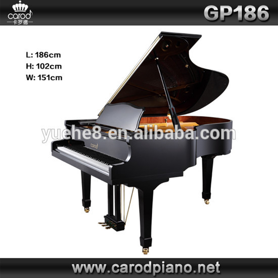 Carod 88keys Black Polished Mechanical Acoustic Grand Piano Gp 186
