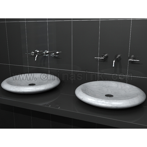Carrara White Marble Bathroom Sink