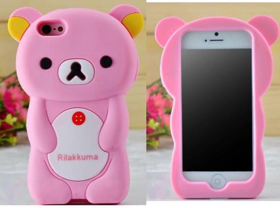 Cartoon Iphone 5 Case Rilakkuma Silicone Cellular Phone Cases For