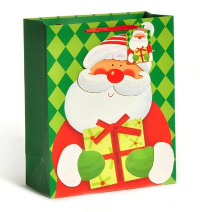 Cartoon Santa Claus Christmas Bag