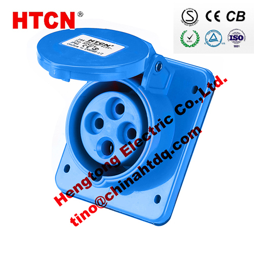 Cee Flanged Panel Sockets Sloped Sloping Industrial Flush Mounted 32a 3p E