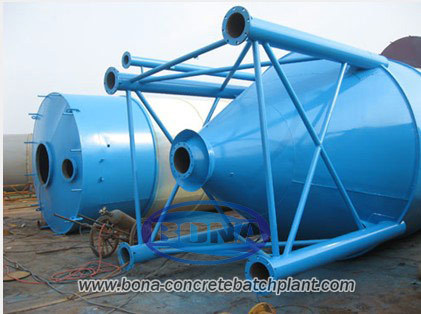 Cement Silo Relating To Concrete Mixing Plant