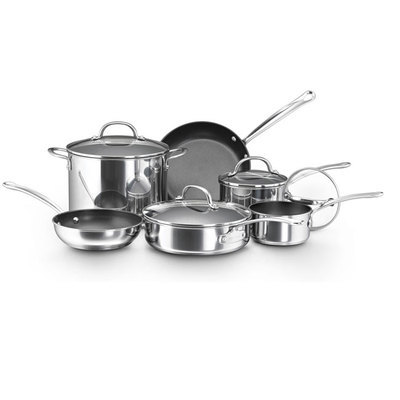 Chef S Classic Stainless Steel 10 Piece Cookware Set