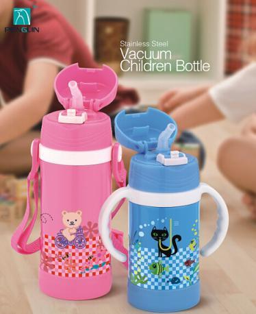 Children Bottle With Handle Lovely Cartoon Design Bpa Free