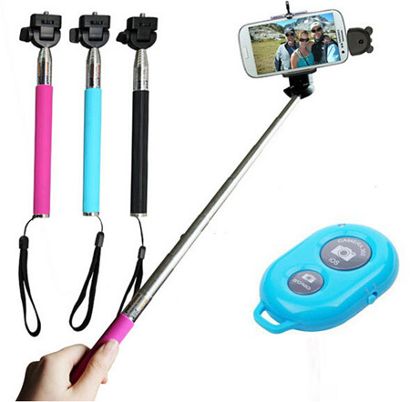 China Manufactory Monopod Bluetooth Remote Shutter Color Black Yellow Pink