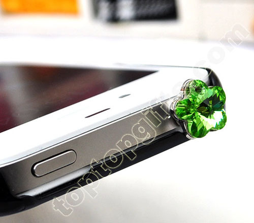 Chinese Crystal Flower Dust Plugs For Iphone 4s