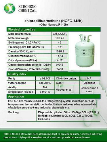 Chlorodifluoroethane Hcfc 142b R142b
