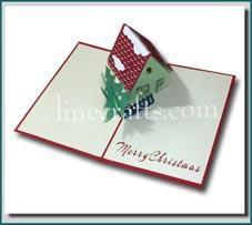 Christmas House Pop Up Card Code Cn023