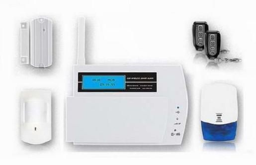 Cid Uploading Lcd Display 868mhz Burglar Alarm System Fs Am211
