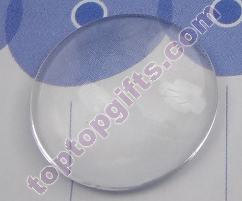 Circle Glass Cabochon Mobile Phone Cover Decoration