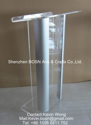 Clear Acrylic Aluminum Pulpit Lectern Stand