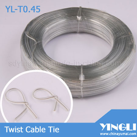 Clear Double Flat Twist Cable Tie Yl T0 45