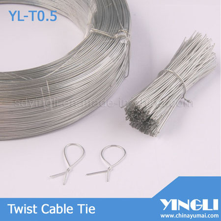 Clear Round Shape Twist Cable Tie Yl T0 5