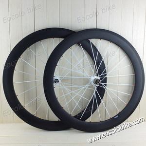 Clincher 60mm 25mm Wide 700c Carbon Road Bike Wheelset U Shape