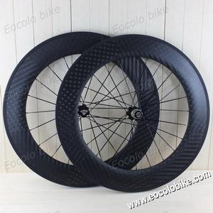 Clincher 88mm 20 5mm Wide 700c Carbon Road Bike Wheelset