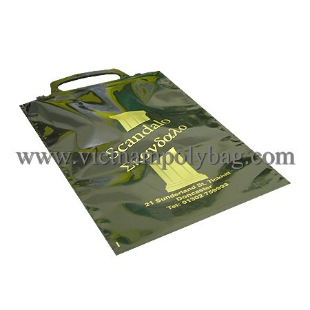 Clip Close Handle Plastic Carrier Bag Made In Vietnam