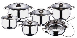 Cnbm 12 Pcs Stainless Steel Cookware Sets