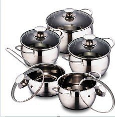 Cnbm Belly Shape Stainless Steel Cookware Sets
