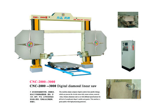 Cnc 2000 3000 Wire Saw Block Stone Machine